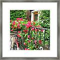Flowers And Bikes Oh My Framed Print