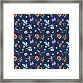 Flowers And Hummingbirds 2 Framed Print