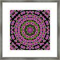 Flowers And More Floral Dancing A Power Peace Dance Framed Print