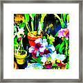 Flowers In Abstract 18 Framed Print