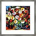 Flowers Of Love Framed Print