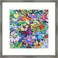 Flowers Splash Framed Print