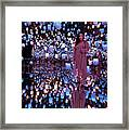 Forest Of Resonating Lamps Framed Print