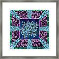 Forget Me Nots Fabric By Clothworks Framed Print