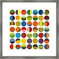Forty Nine Circles Framed Print