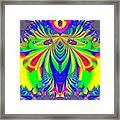 Fractal 31 Psychedelic Love Explosion Framed Print