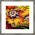 Fractal Furrows Framed Print