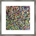 Fragmented Spring Framed Print
