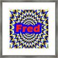 Fred Framed Print