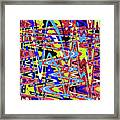 Freeway Of Colors Abstract Framed Print
