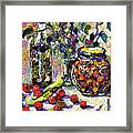 French Provence Cooking Still Life Framed Print