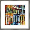 French Quarter Charm Framed Print