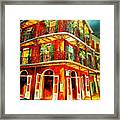 French Quarter Corner Framed Print