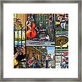 French Quarter Musicians Collage Framed Print