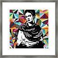 Frida Stay True Framed Print