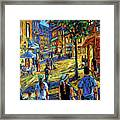 Friday Night Walk Prankearts Fine Arts Framed Print