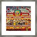 Fries Nachos Dogs Framed Print