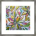 Frosted Leaves And Snow Framed Print