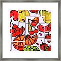 Fruit Fractals Framed Print