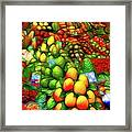 Fruit Stand At La Boqueria Framed Print
