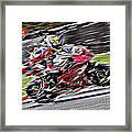 Fullspeed On Two Wheels 6 Framed Print