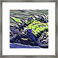 Fullspeed On Two Wheels 8 Framed Print