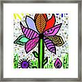 Funky Flower Mod Pop Framed Print