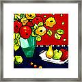Funny Flowers And Fruit Framed Print
