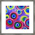 Fuzzy Purple Circles Framed Print