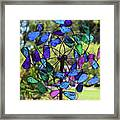 Garden Colored Fan Framed Print