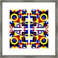 Geometric Shapes Abstract Square 2 Framed Print