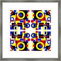 Geometric Shapes Abstract Square 3 Framed Print