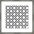 Geometricsquaresdiamondpattern Framed Print