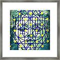 Geometrized Mask Framed Print