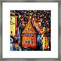 Germany - Medieval Rothenburg Framed Print