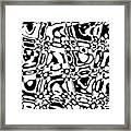 Gibberish Black And White Abstract Framed Print
