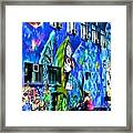 Girl And The Wall Framed Print