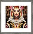 Girl In Bulgarian National Costume Framed Print