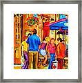 Girl In The Cafe Framed Print by Carole Spandau