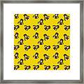 Girl With Popsicle Yellow Framed Print