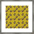 Girl With Popsicle Yellow Floral Framed Print
