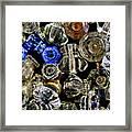 Glass Knobs Framed Print
