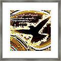Glowing Bird Of Midnight Love Framed Print