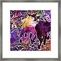 Goats Wildpark Poing Young Animals  Framed Print