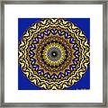 Gold And Sapphires  Framed Print
