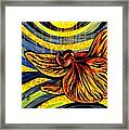 Gold Orchid Framed Print