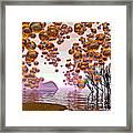 Golden Bubbles Framed Print