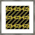 Golden Chains With Black Background Seamless Texture Framed Print