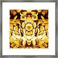 Golden Flower King Framed Print