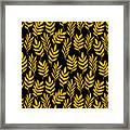 Golden Leaf Pattern Framed Print